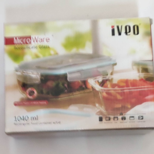 Micro Ware Rectangular Food Container With Lid | 1040ml